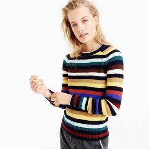 J. Crew Supersoft wool sweater in multistripe